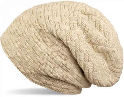 styleBREAKER Strickmütze »Feinstrick Beanie mit Flecht Muster und Teddyfleece« Feinstrick Beanie mit Flecht Muster und Teddyfleece