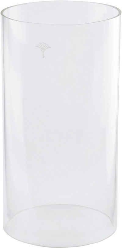 Joop! Windlicht »METAL LINE« (1 Stück), Glaszylinder für JOOP! Windlicht METAL LINE, aus hitzebeständigem Glas mit einzelner Kornblume als Dekor