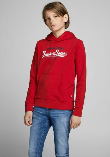 Jack & Jones Junior Kapuzensweatshirt »JJELOGO SWEAT HOOD 2 COL«