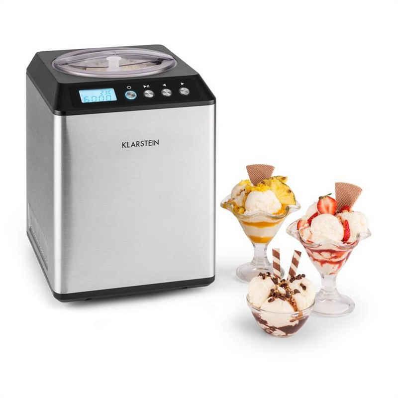 Eismaschine Vanilly Sky Family Eiscremebereiter Frozen Yoghurt 250W 2,5l silber, 2.5 l, 250 W