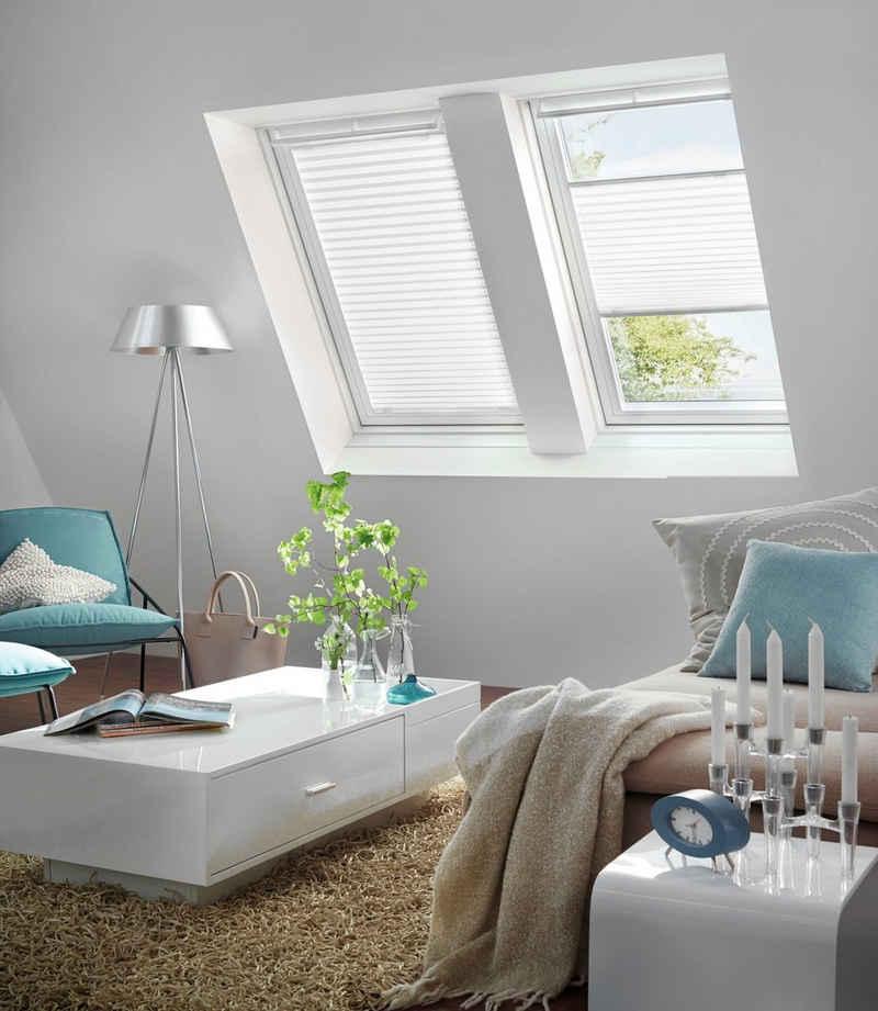 Dachfensterplissee, GARDINIA, blickdicht, ohne Bohren, passend für Velux Dachfenster