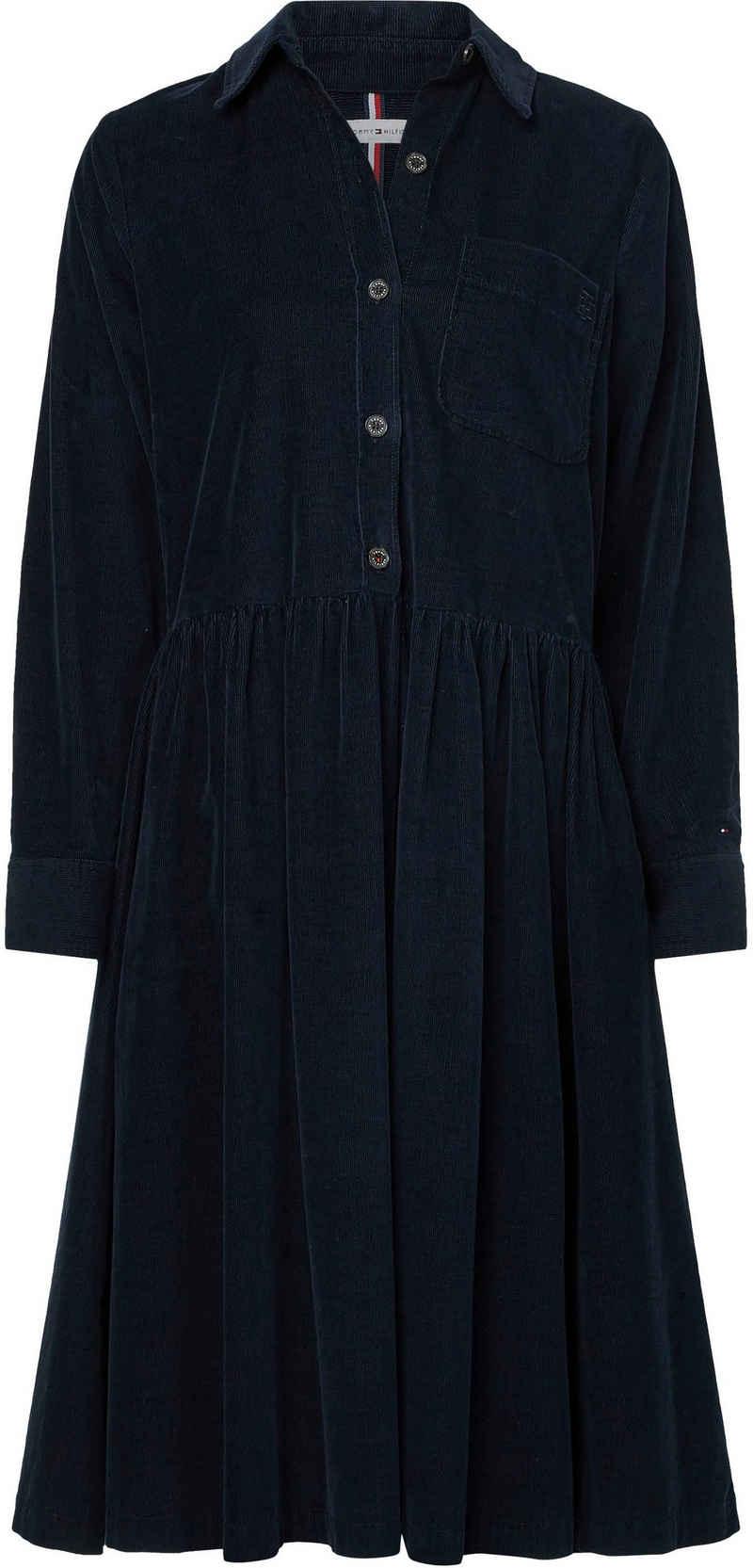 Tommy Hilfiger Blusenkleid »CORDUROY KNEE SHIRT DRESS LS« aus Feincord
