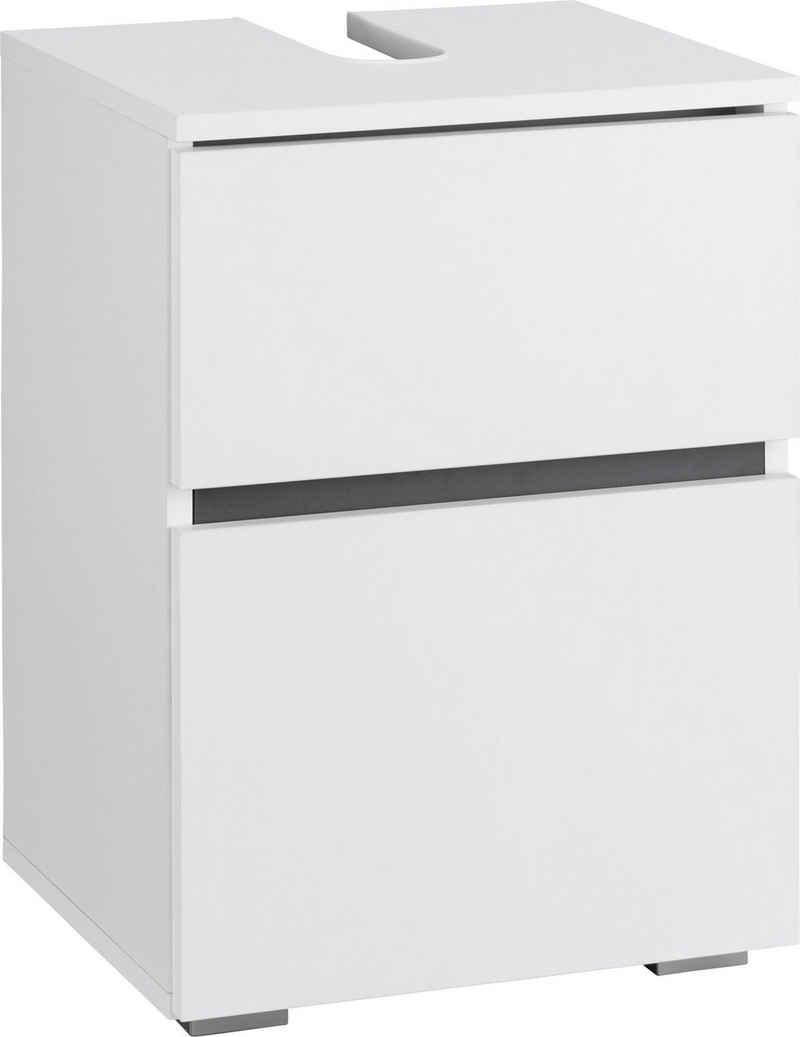 Home affaire Waschbeckenunterschrank »Wisla« platzsparend, Siphonausschnitt, Tür mit Push-to-open-Funktion, Breite 40 cm, Höhe 55 cm