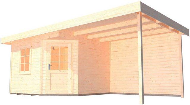 Weka Holz-Gartenhaus San Remo A Natur541 cm x 238 cm