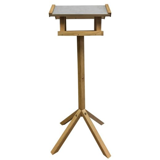 esschert design Vogelhausständer Esschert Design Vogelhäuschen Rechteckiges Stahldach FB432