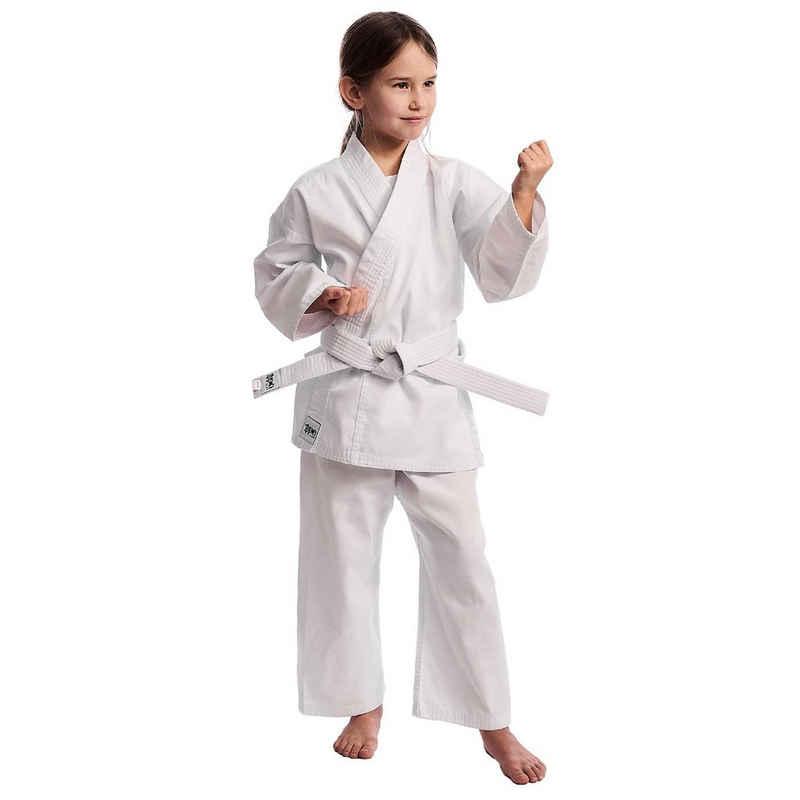 IPPON GEAR Karateanzug »Club Karate GI Set Einsteiger Karateanzug Kinder Anzug inkl. Gürtel«, [Größe 100 I Gummizug an der Hose I 220gr/m² (8 oz) Stoffdichte] weiß