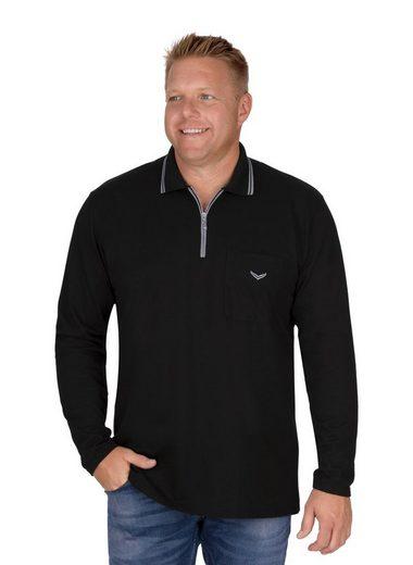 Trigema Langarm Poloshirt