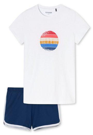 Schiesser Pyjama »Mädchen Schlafanzug Set - 2-tlg., kurz, Shorty,«