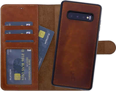 Burkley Flip Case »Samsung Galaxy S10+ Handyhülle Detachable Case«