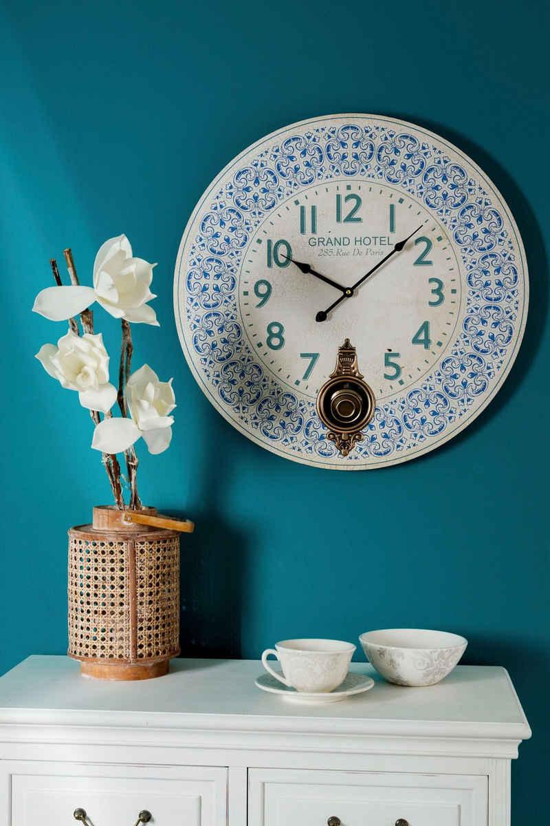 Myflair Möbel & Accessoires Wanduhr »Blue Sky« (aus Holz)