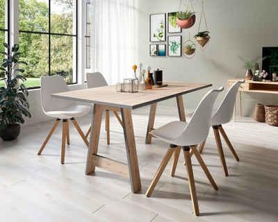 Homexperts Essgruppe »Till und Kaja«, (Set, 5-tlg., Esstisch mit 4 Stühlen)