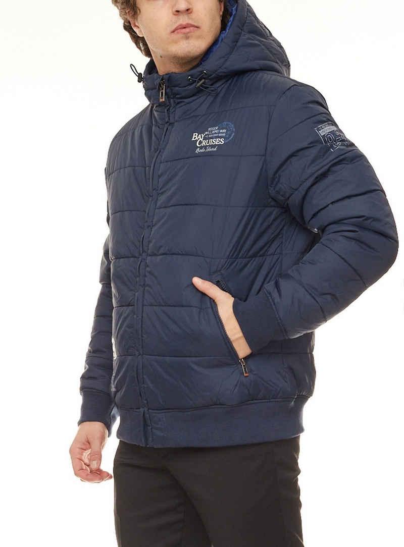 Rhode Island Steppjacke »Rhode Island Kapuzen-Jacke legere Herren Stepp-Jacke mit leichter Wattierung Übergangs-Jacke Marine«