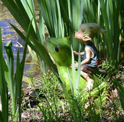 """Vogler direct Gmbh Gartenfigur »Magical Garden - Gartenpixie """"Hopp!""""«, LxBxH: 26x22x25cm"""