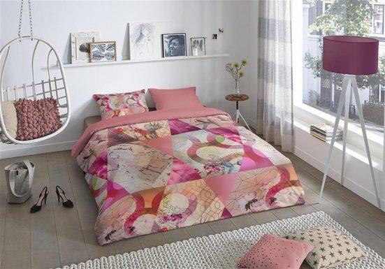 Bettwäsche »Escape Pink«, good morning, hochwertige Renforcé Qualität