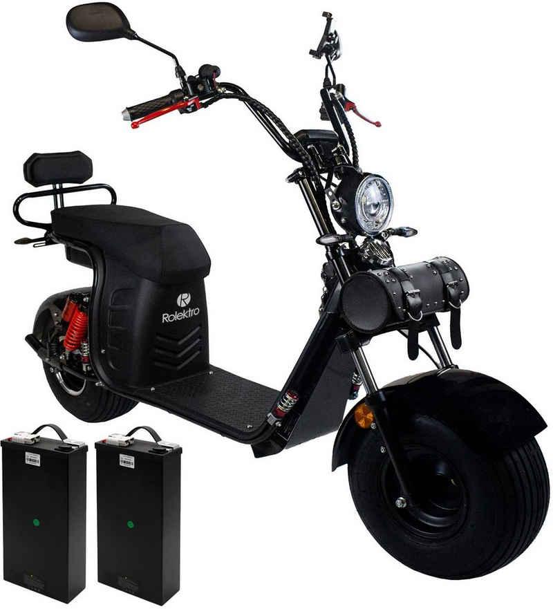 Rolektro E-Motorroller »E-Cruiser 45 Lithium, Schwarz, 2x 60V-20Ah Akku, 1500 Watt«, 1500 W, 45 km/h, Euro 5