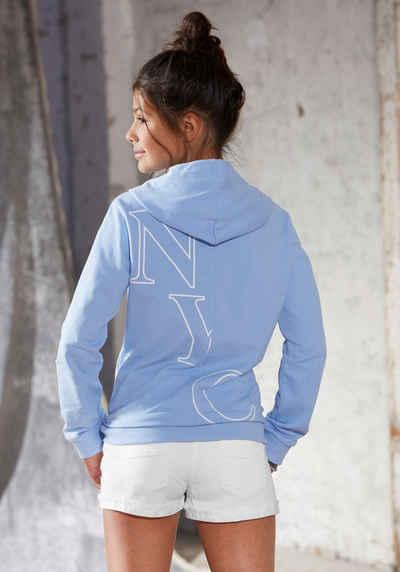 Arizona Kapuzensweatshirt mit modischem Rückendruck