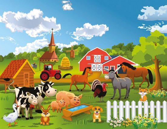 Fototapete »Farm, Bauernhof«, glatt