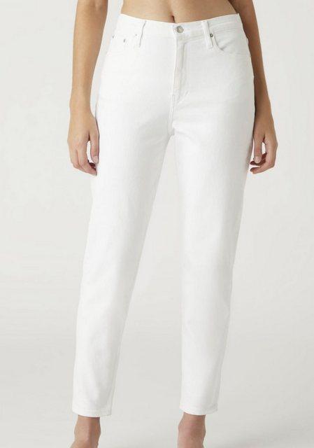 Hosen - Calvin Klein Jeans Mom Jeans »MOM JEAN« mit CK Logo Badge Flag › weiß  - Onlineshop OTTO