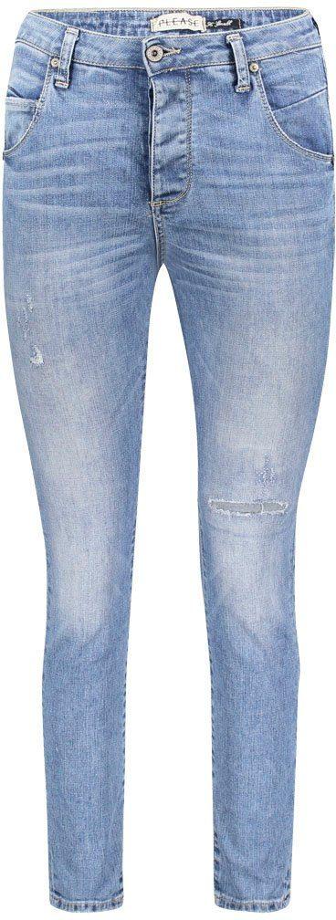 Please Jeans 7/8-Jeans P36H im Bleached Look X7ZdDw
