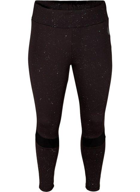 Hosen - Active by ZIZZI Trainingstights Große Größen Damen Leggings mit 7 8 Länge, Print und Mesh ›  - Onlineshop OTTO