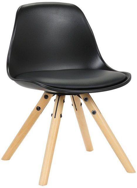 Stühle und Bänke - CLP Esszimmerstuhl »Nakoni Kunststoff« Kunstlederbezug und Gestell aus Buchenholz  - Onlineshop OTTO