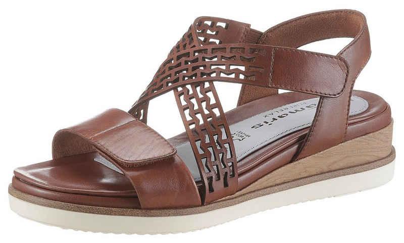 Tamaris »Pure Relax« Sandale mit zwei Klettverschlüssen