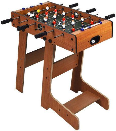 COSTWAY Mini-Tischkicker »Kickertisch«, Tischkicker klappbar inkl. 2 Bällen, Spieltisch für Erwachsene und Kinder ab 8 Jahren