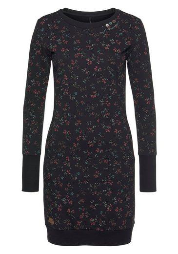 Ragwear Shirtkleid »MENITA FLOWERS« mit Allover Flowerprint und Zierknopf-Besatz