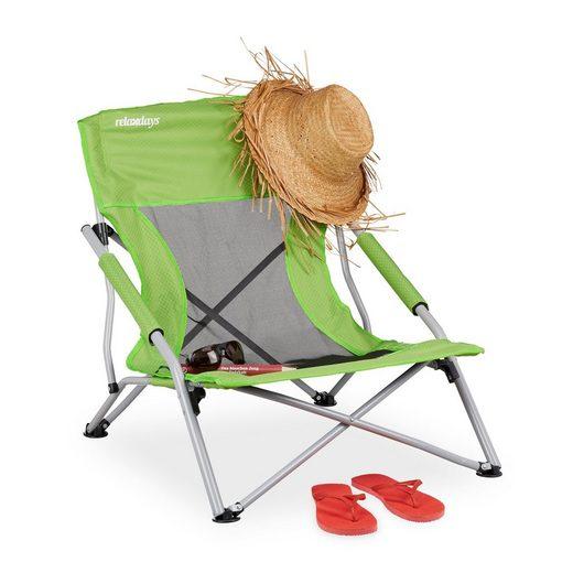 relaxdays Campingstuhl »Strandstuhl faltbar«