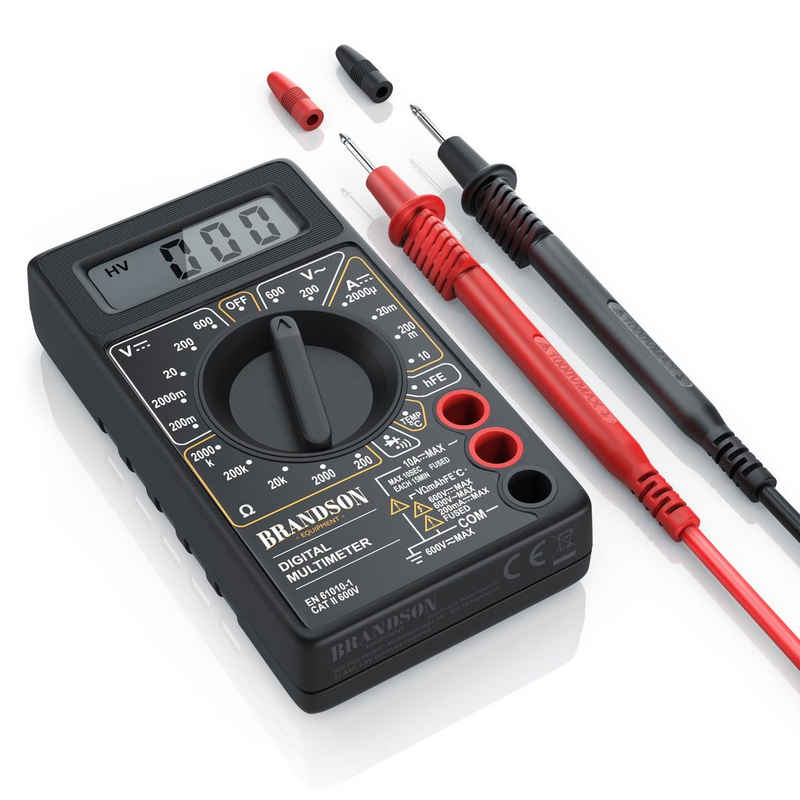 """Brandson Multimeter, Digital Multimeter mit 1,9"""" Display und Diodentests Voltmeter / Amperemeter / Ohmmeter"""