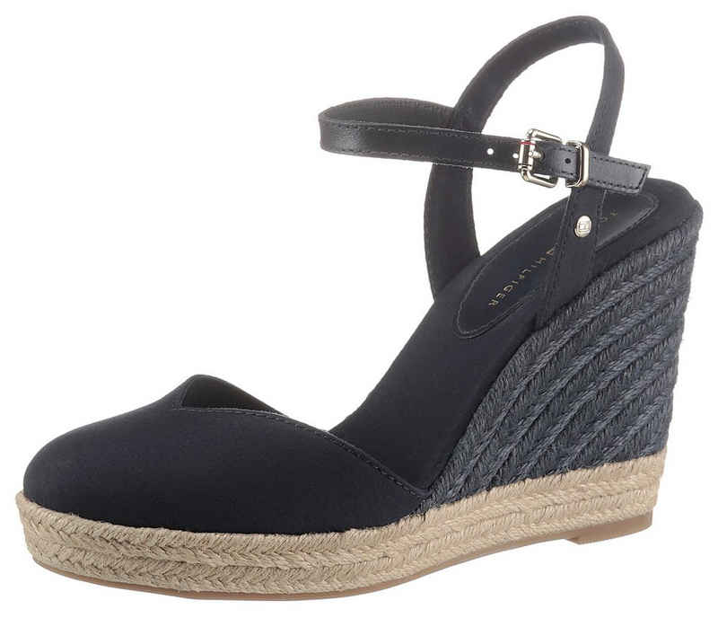 Tommy Hilfiger »BASIC CLOSED TOE HIGH WEDGE« Sandalette mit bezogenem Keilabsatz
