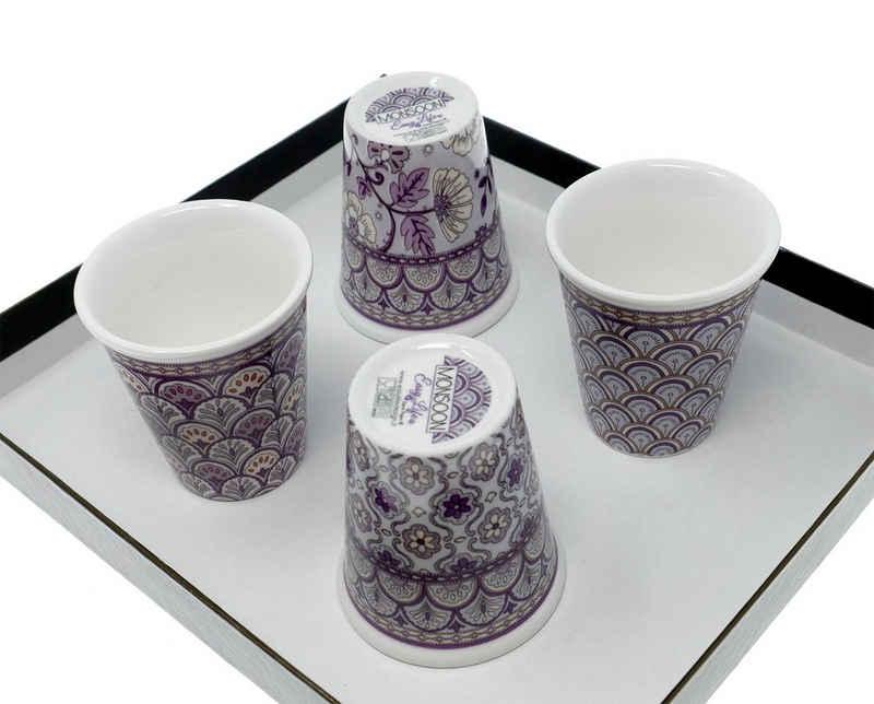 Lashuma Espressotasse »Wanddekor«, Porzellan, Kleine Frühstückstassen, Porzellanbecher Füllmenge: 100 ml