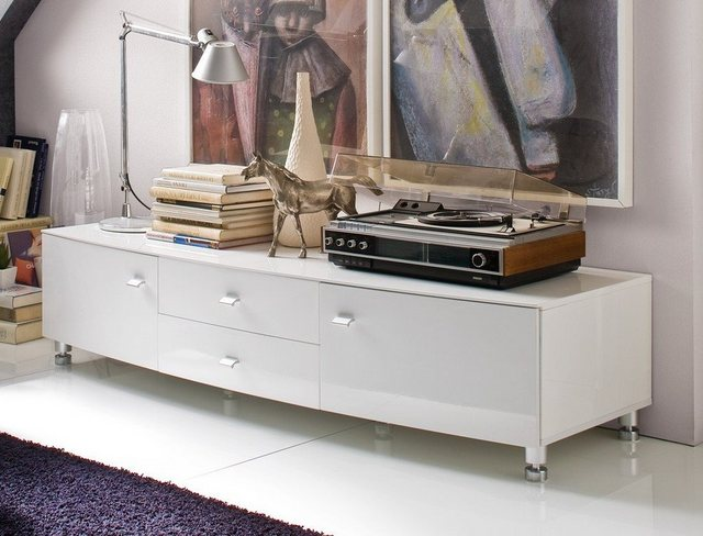 TV Möbel - expendio TV Board »Luce«, Hochglanz 165x40x55 cm mit ovaler Front gewölbt  - Onlineshop OTTO