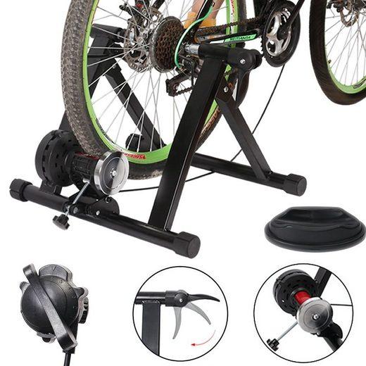 Mucola Heimtrainer »Rollentrainer 6 GANG Fahrrad klappbar Fahrradtrainer 150 kg Heimtrainer«, Schnellspannhebel