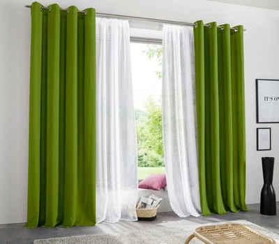 Vorhang »Raja«, my home, Ösen (2 Stück), blickdicht