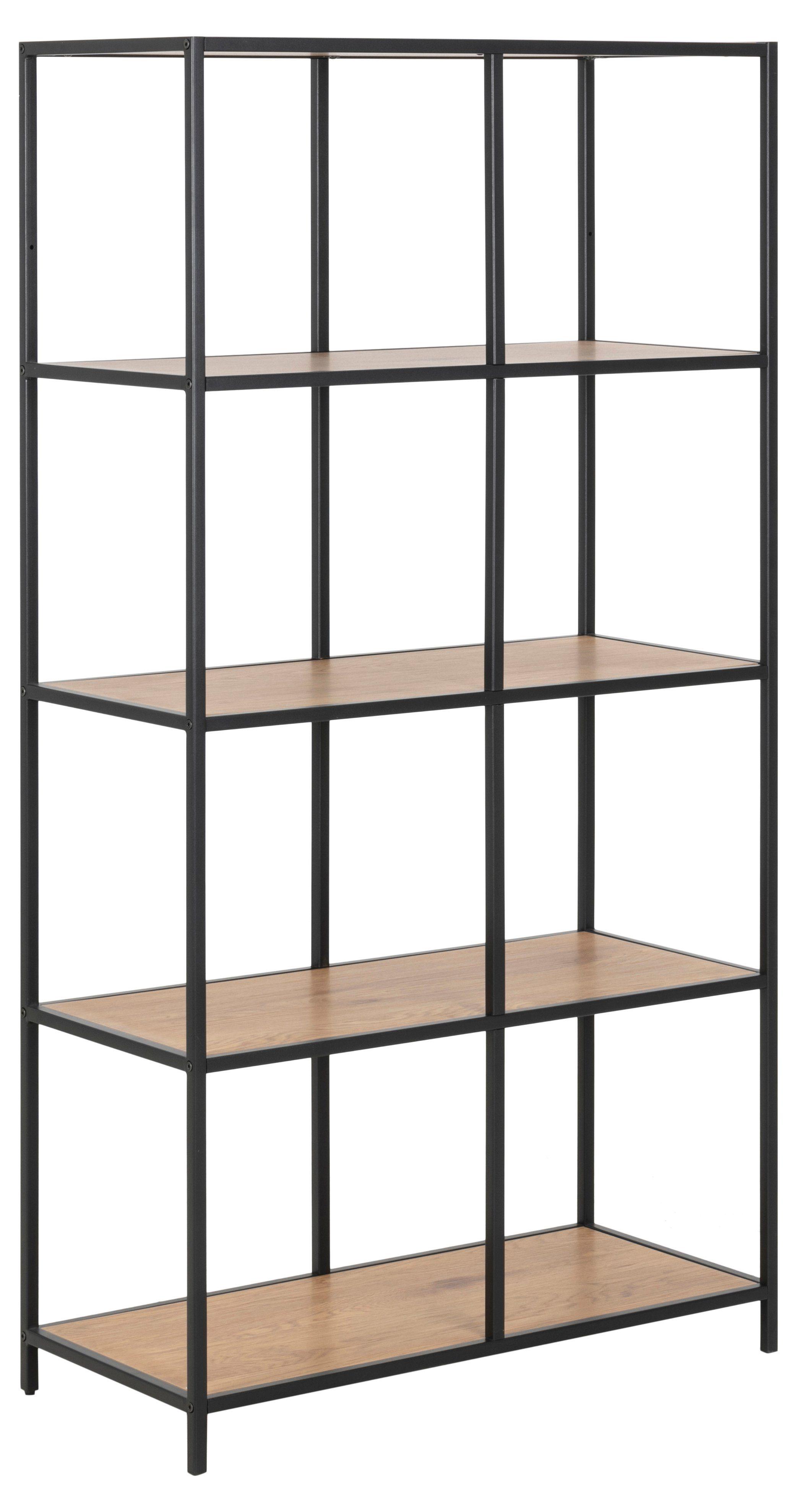 ebuy24 Raumteiler »Sea Regal 3 Ablagen Eiche, Metall schwarz
