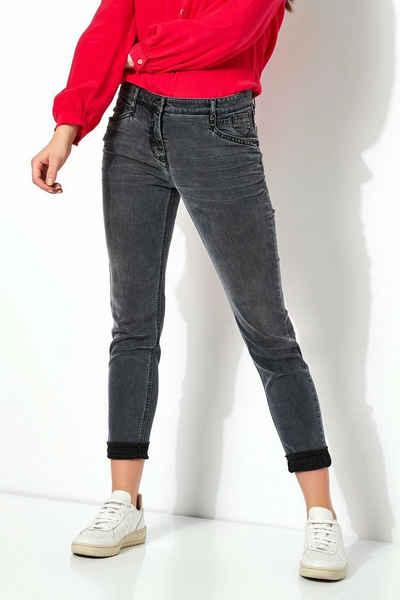 TONI Skinny-fit-Jeans »Perfect Shape« mit offenen Säumen