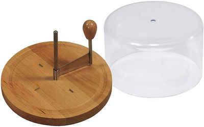 Kesper Käsehobel »Käsehobel mit Haube für Tete de moine Käse«, Holz Edelstahl