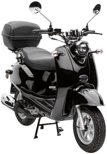 Nova Motors Motorroller »Retro Star Touring«, 49 ccm, 45 km/h, inkl. Topcase