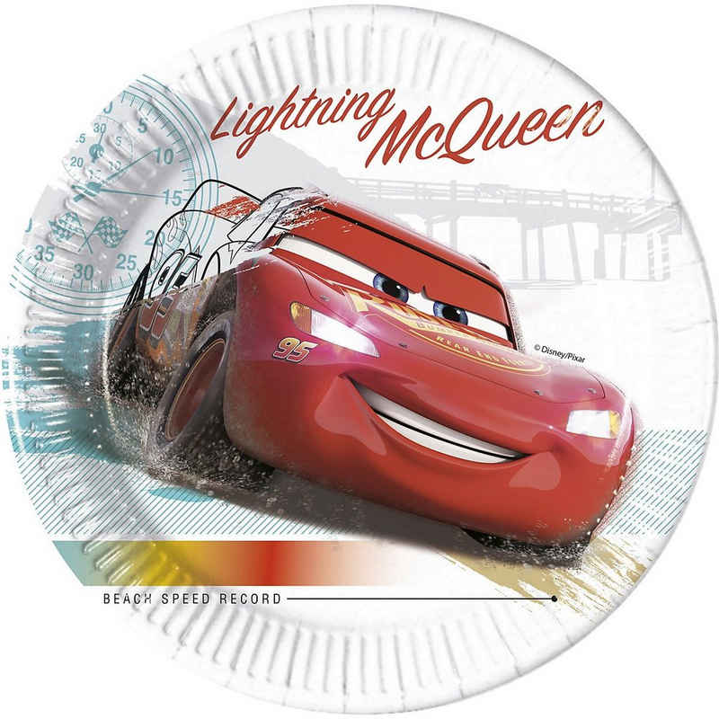 Procos Teller »Cars 3 8 Pappteller 23 cm Design Cars High Speed«