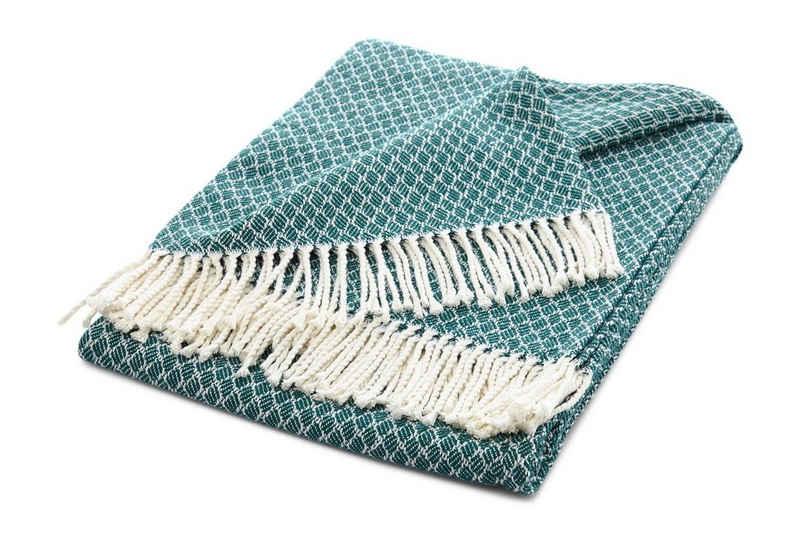Tagesdecke »Sommerdecke Kuscheldecke mit Fransen, Edele und weiche Sommer-Decke, Die leichte Decke ist MADE IN EUROPE, 130x170 cm«, søstre & brødre