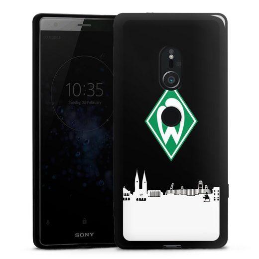 DeinDesign Handyhülle »WB Skyline« Sony Xperia XZ 2, Hülle Offizielles Lizenzprodukt Skyline SV Werder Bremen