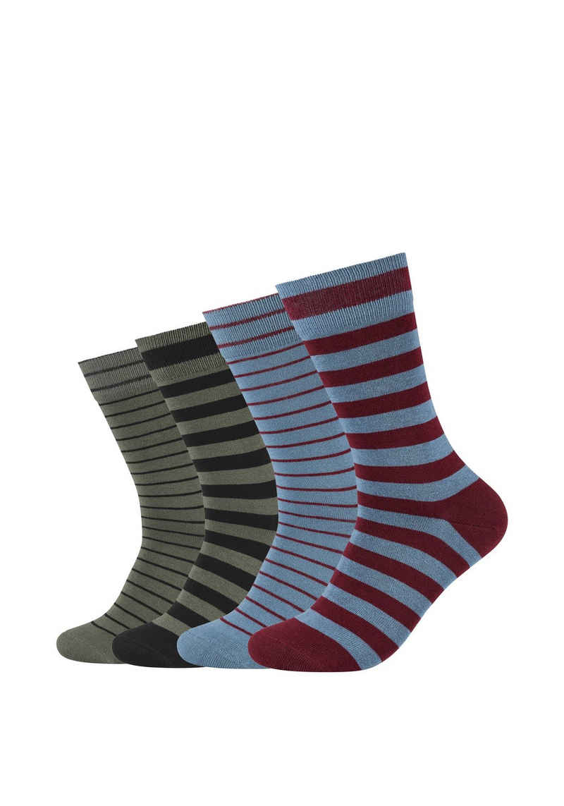 s.Oliver Socken »Originals mit Bio-Baumwolle geringelt« (4-Paar) 4er Pack