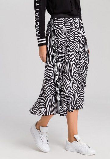 MARC AUREL Plisseerock mit Zebra-Print