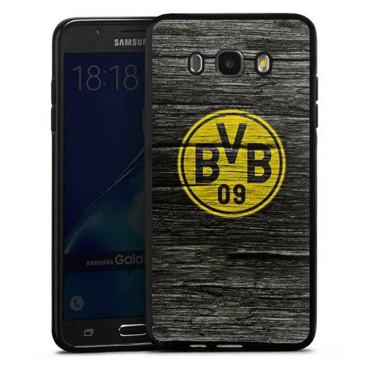 DeinDesign Handyhülle »BVB Holzoptik« Samsung Galaxy J7 (2016), Hülle Borussia Dortmund BVB Holzoptik