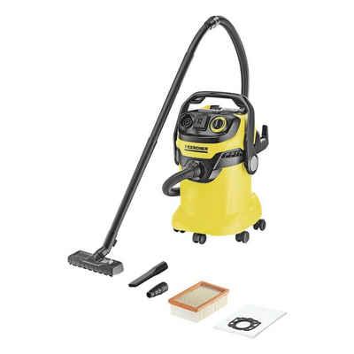 Kärcher Professional Nass-Trocken-Sauger WD 5, 1800 Watt, inkl. Nass-/ Trockenbodendüse und Flachfaltenfilter