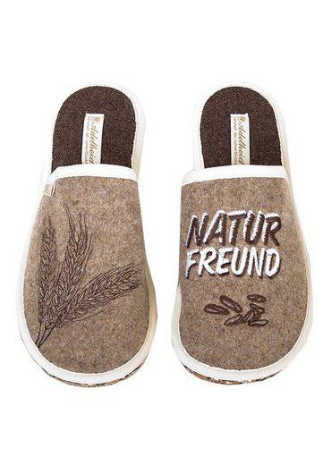 ADELHEID »Naturfreund GO GREEN Filzpantoffel« Pantoffel