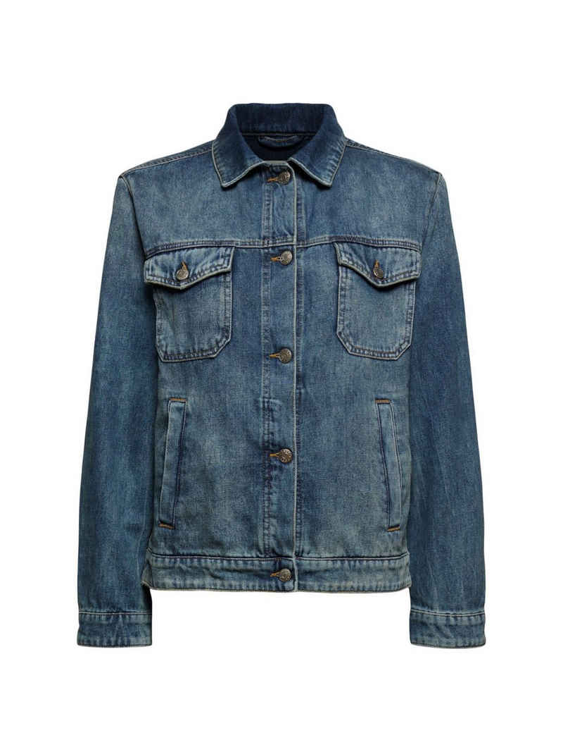 Esprit Jeansjacke »Jeansjacke im Boyfriend-Cut, Organic Cotton«