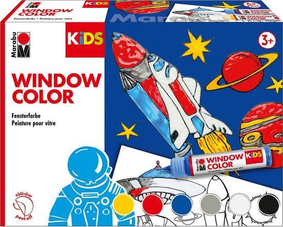 Fenstersticker »KIDS Window Color Set WELTALL, 6 x 25 ml«, Marabu