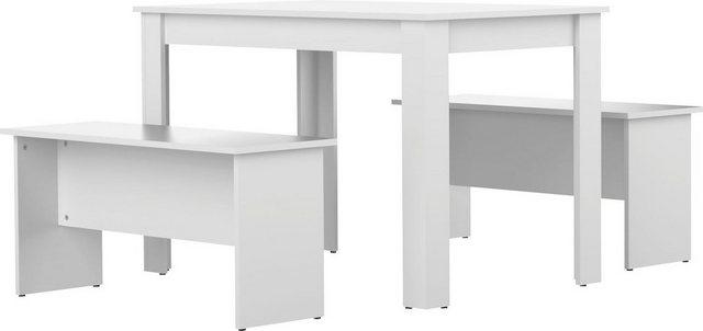 Wohnzimmertische - TemaHome Esstisch »Nice« (3 St), 3 tlg Set, bestehend aus einem Esstisch mit zwei Sitzbänken  - Onlineshop OTTO